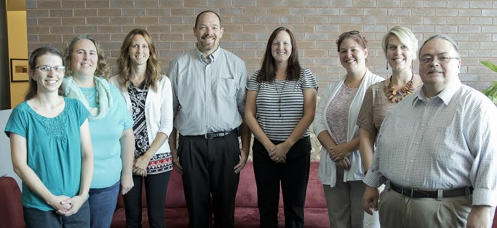 Davenport's English and Communications staff members.
