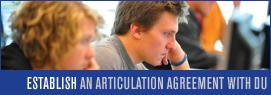 Establish an Articulation Agreement with Davenport University