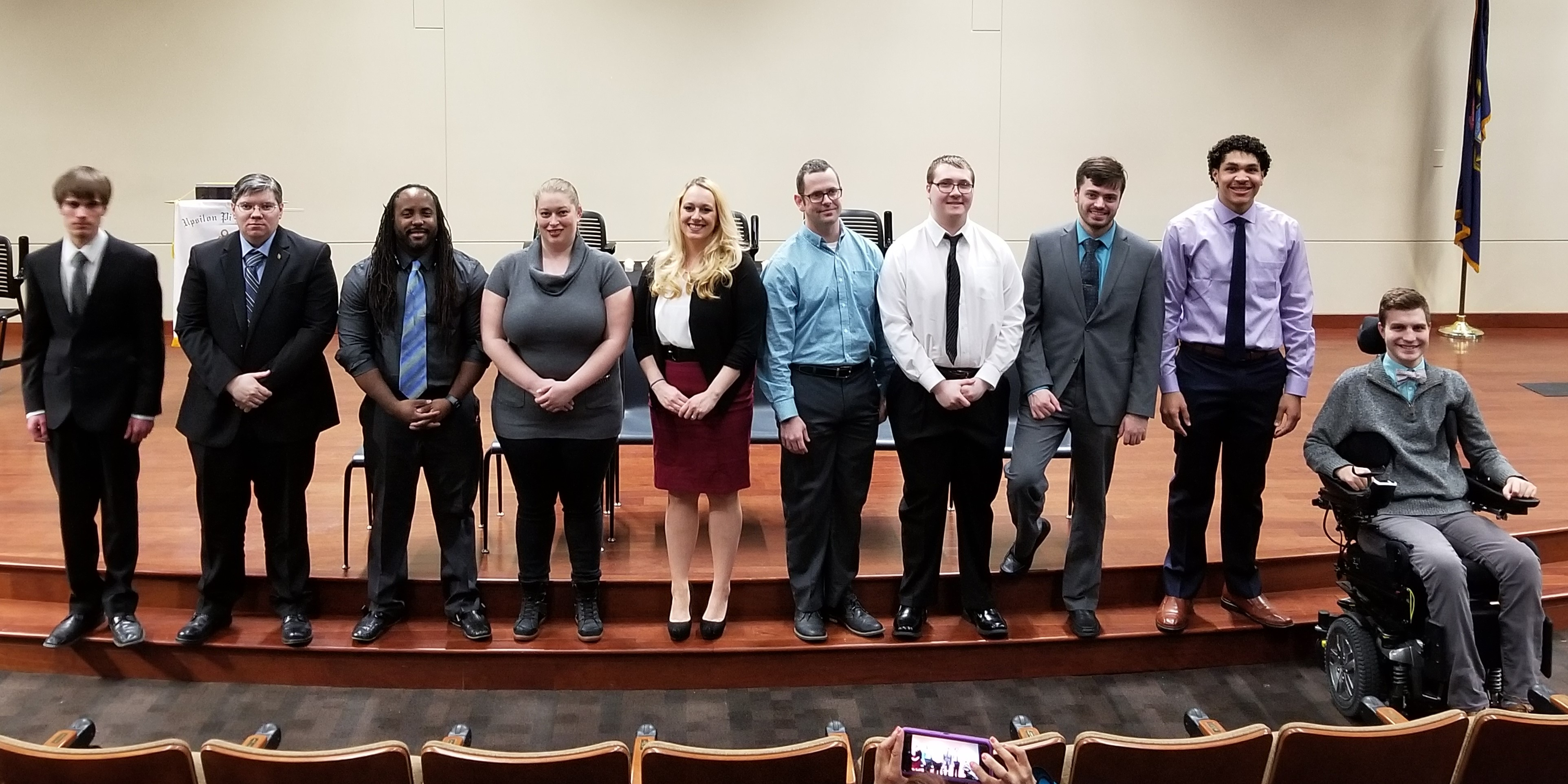 UPE Honor Society inductees 2018
